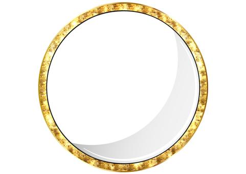 Golden paper frame frame