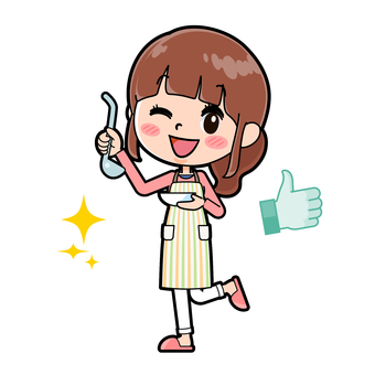 Apron mother cooking delicious