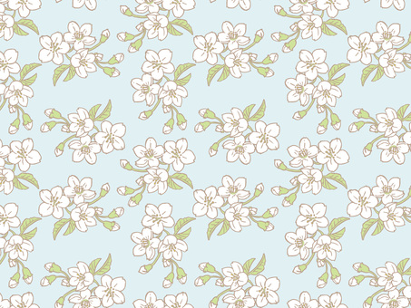 Spring cherry Tile pattern (repeat) B02