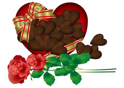 Heart Chocolate & Roses 11