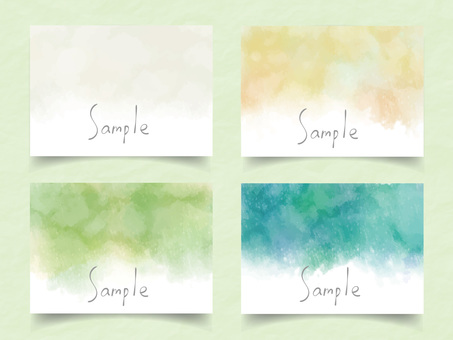Watercolor frame set ver19