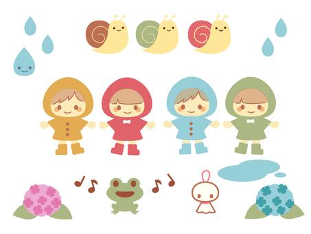 A pop rainy rain assortment