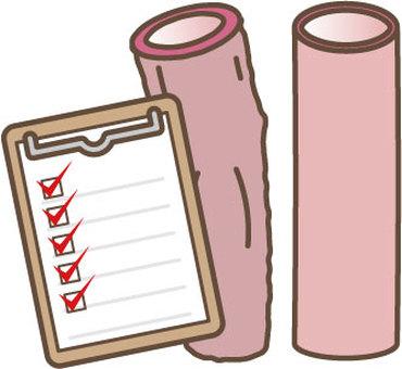 Blood vessel check sheet