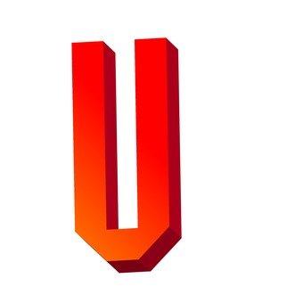 Three-dimensional text U