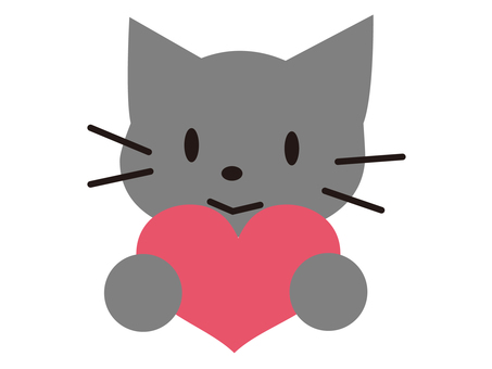 Cat with heart 3
