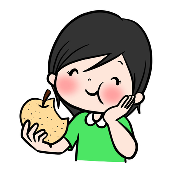 Girl eating no gown short hair clothing yellow green