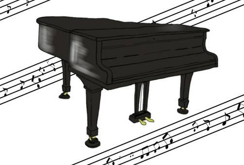 Grand piano music classroom lesson