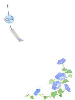 Wind bell and morning glory frame