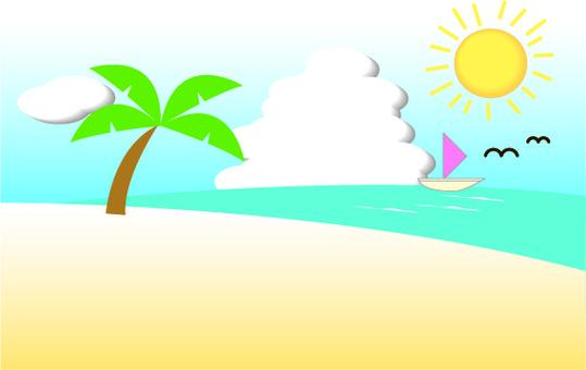 夏天太陽海景觀度假島