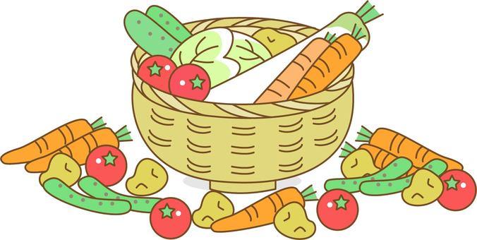 Vegetables in the basket, various vegetables