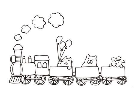 Train Poppo (Pen painting -1)