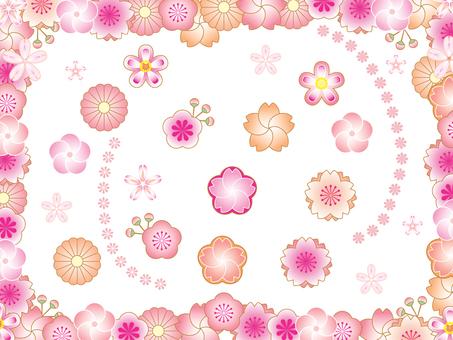 Japanese pattern flower