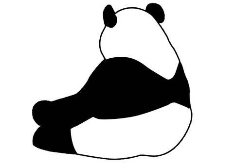 Panda back view