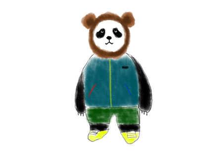 Fashionable panda