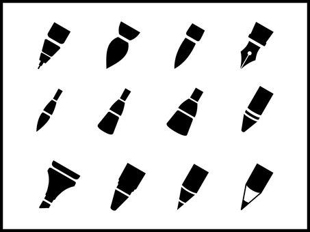 Icon set pen