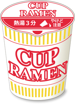 Cup noodles soy sauce _ lid closed