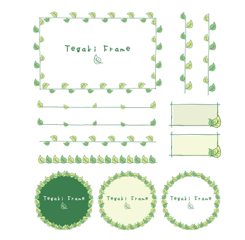 Hand-drawn green frame 2