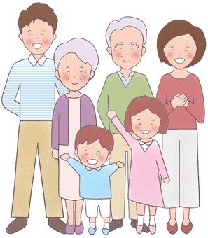 3世代6人家族(全身)