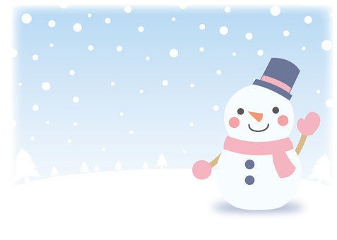 Snowman background frame