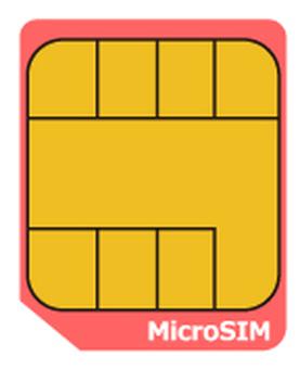 SIM card micro size