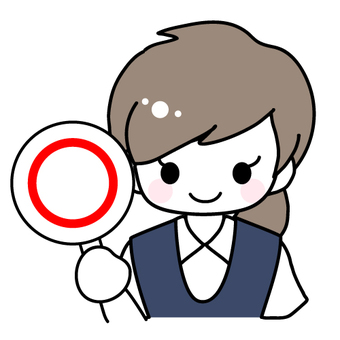 Illustration of a woman holding a bill