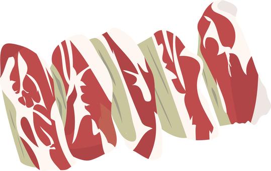 Food series meat pork ribs