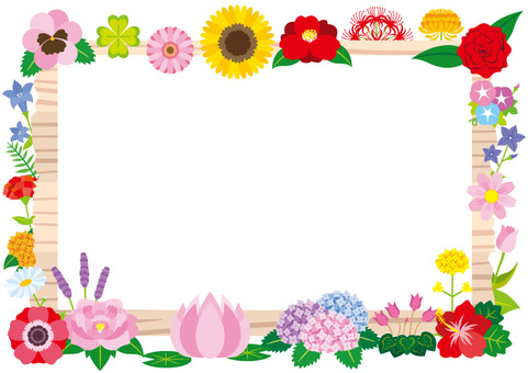 Signboard and flower frame A