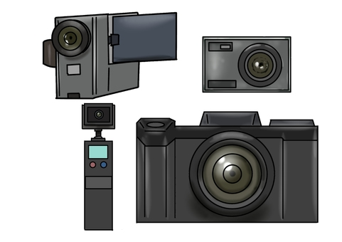 Digital photography equipment various illustrations 001
