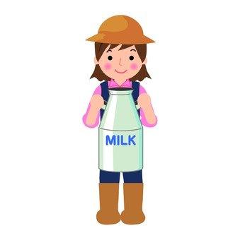A dairy female person
