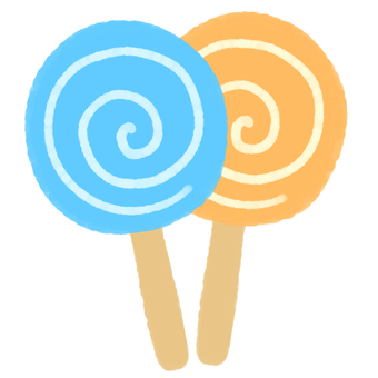 막대 사탕 (블루)