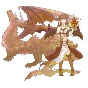 Dragon anthropomorphic tea