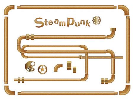 Steam punk gas pipe frame