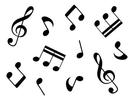 Music note set