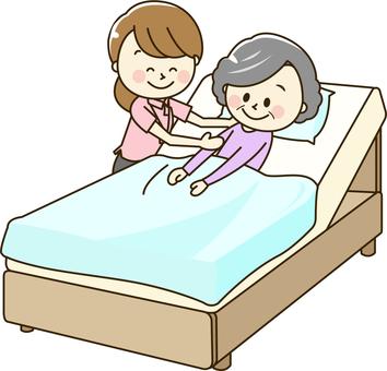 Polo shirt and senior women 2-14 beds