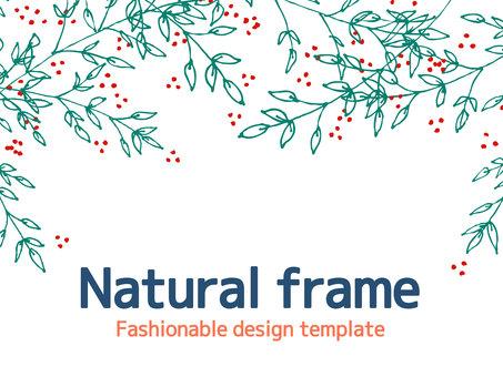 Plant simple frame <05>