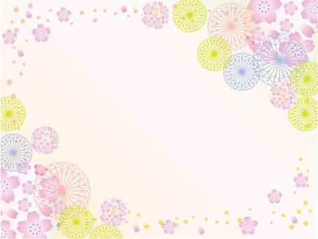 日本紙_花卉圖案_sakura