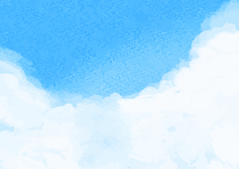 Watercolor blue sky