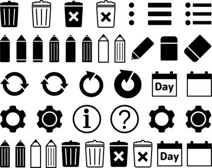 System icon set