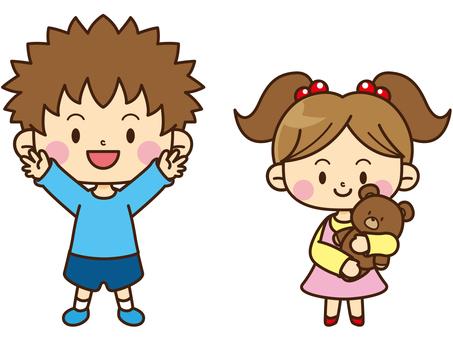 Family illustration 02_ Older brother · sister