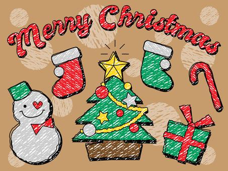 Handwritten Wind Christmas Illustration