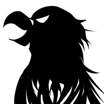 독수리의 머리의 실루엣