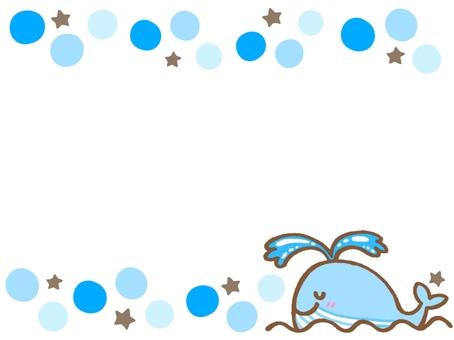 Cute whale frame