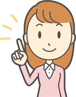 粉紅女孩長發-223-胸圍