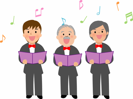 音楽イラスト 男声合唱