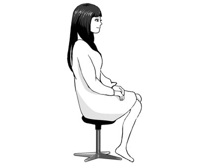 Girl (sit on a chair)
