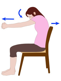 Stretching of the back