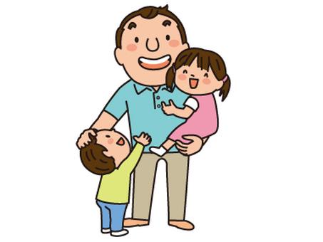 爸爸和兩個孩子