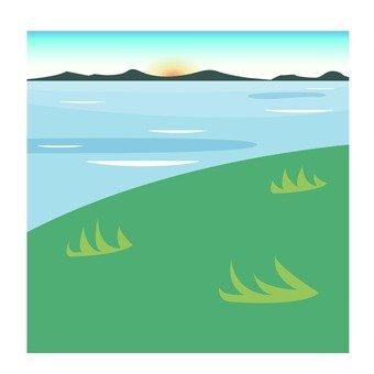 Scenery along the seaside