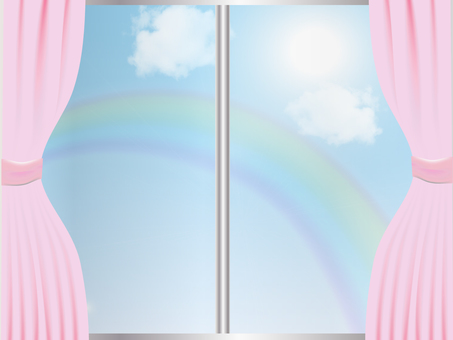 Room with rainbow view