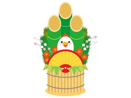 鶏 door pine